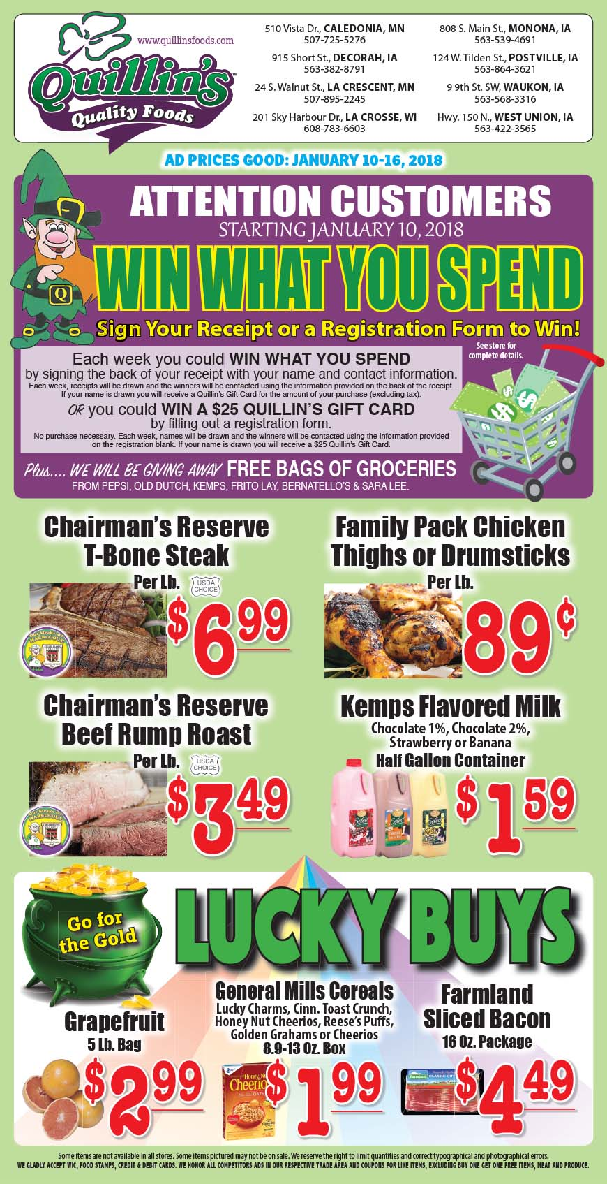 Quillin S Weekly Ad And Grocery Specials