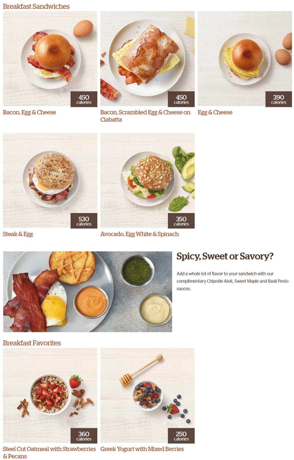 Panera Bread Menu And Specials